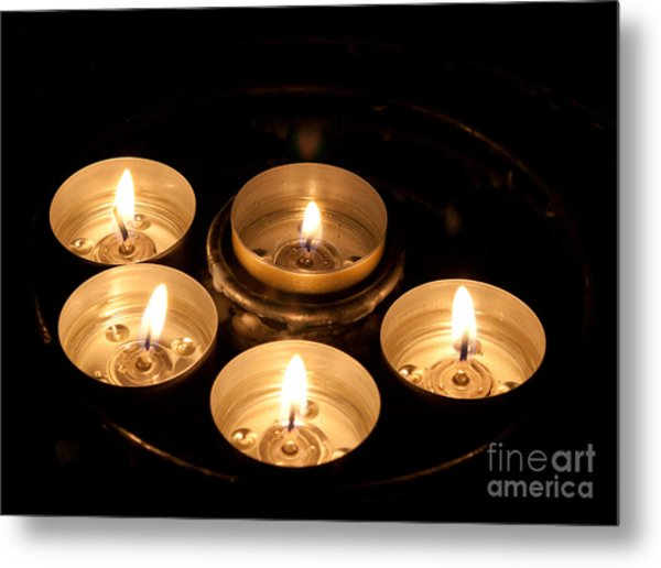 Prayer Candles In Notre Dame Metal Print