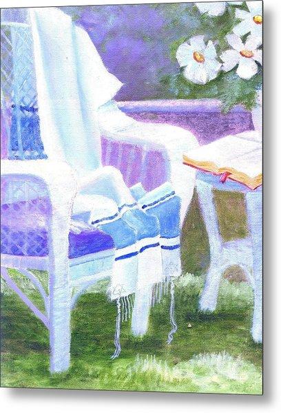 Prayer Chair Metal Print