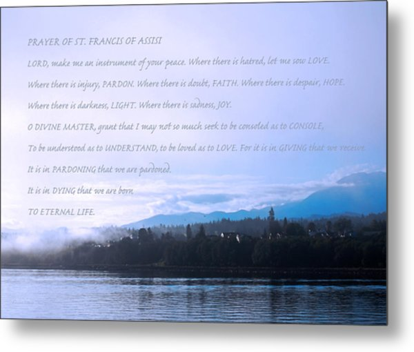 Prayer Of St. Francis Of Assisi Metal Print