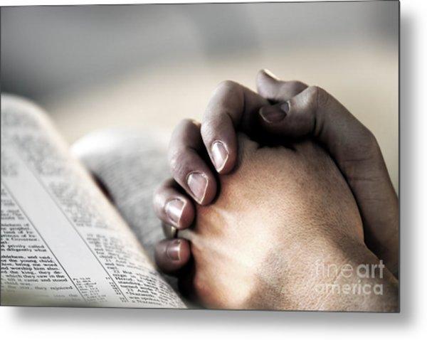 Praying In The Light Metal Print