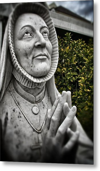 Praying Nun Statue Metal Print