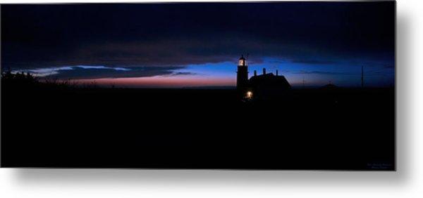 Pre Dawn Light Panorama At Quoddy Metal Print