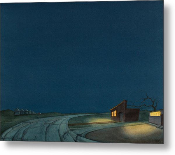 Pre-dawn On The Hi-line I Metal Print
