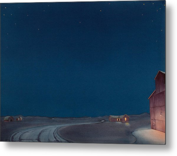 Pre-dawn On The Hi Line II Metal Print