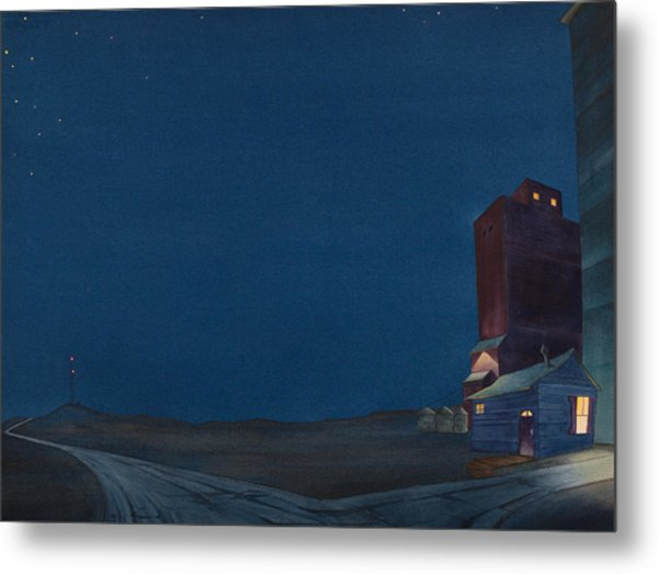 Pre-dawn On The Hi Line IIi Metal Print