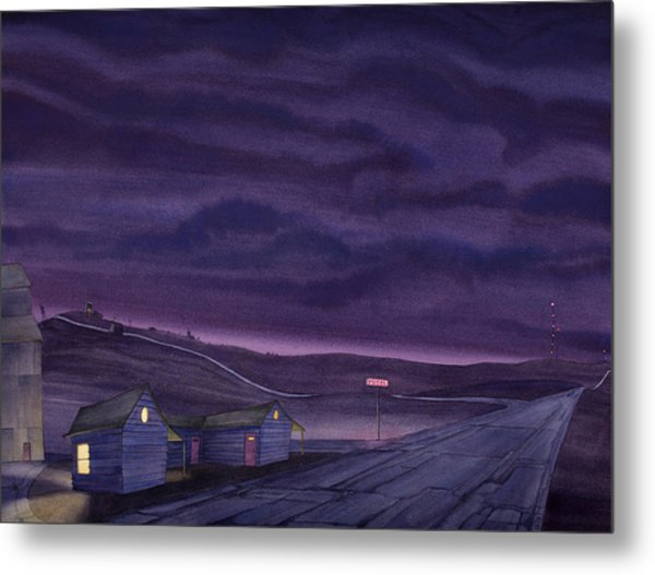 Pre-dawn On The Hi-line Vi Metal Print