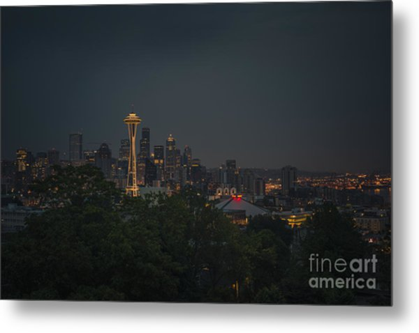 Pre-dawn Seattle Metal Print
