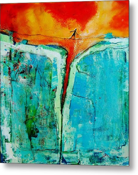 In The Middle Of A Precarious Situation Metal Print