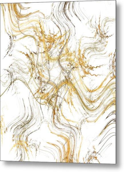 Precious Metal 1 White Decorator Collection 1 Metal Print