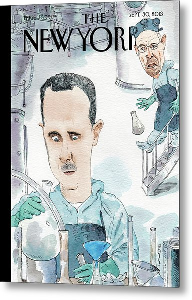 President Assad Cooks Up A Chemical Cocktail Metal Print