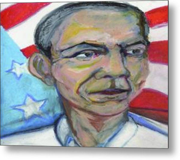 President Barack Obama  Metal Print by Derrick Hayes