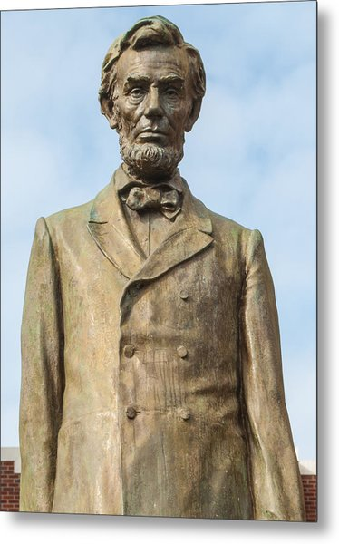 President Lincoln Statue Metal Print