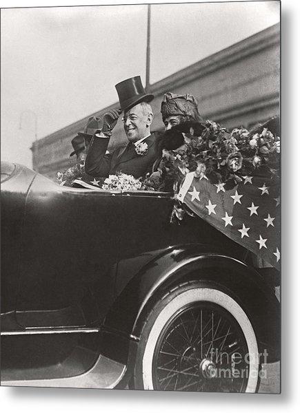 President Woodrow Wilson 1919 Metal Print by Martin Konopacki Restoration