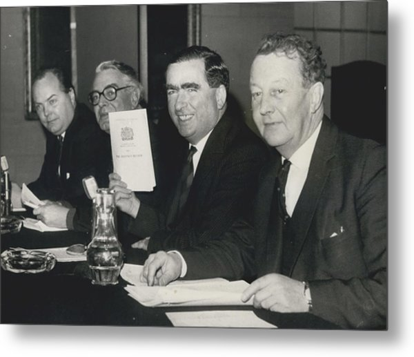 Press Conference On Defence White Paper Metal Print by Retro Images Archive
