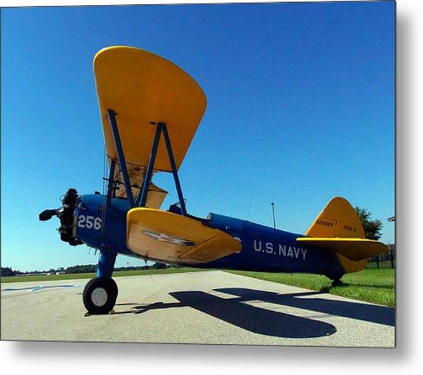 Preston Aviation Stearman 001 Metal Print