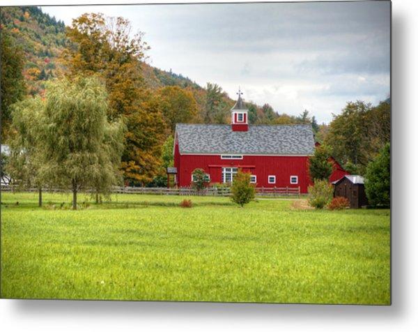 Prettiest Barn In Vermont Metal Print