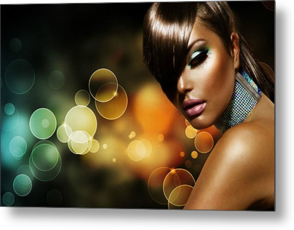 Pretty Brown Sugar Metal Print