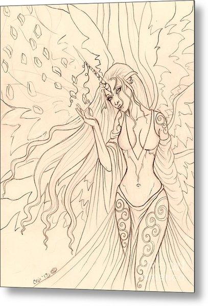 Pretty Pegasus Sketch Metal Print by Coriander  Shea