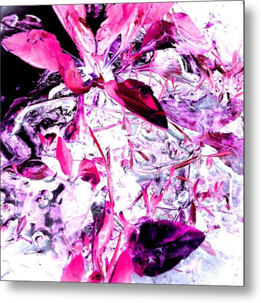 Pretty Pink Weeds 6 Metal Print