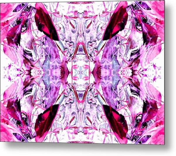 Pretty Pink Weeds Abstract  4 Metal Print