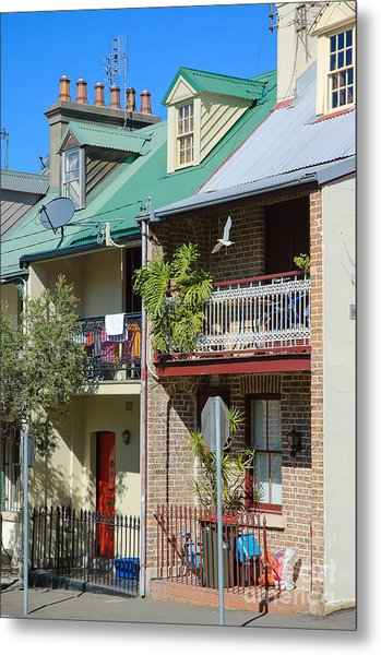 Pretty Terrace Houses In Sydney - Australia Metal Print