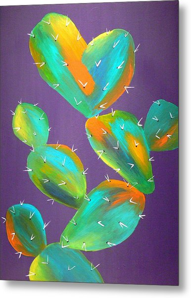 Prickly Pear Abstract Metal Print