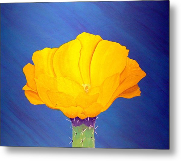 Prickly Pear Flower Metal Print