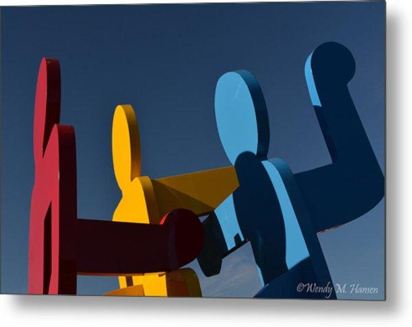 Primary Colors Metal Print by Wendy Hansen-Penman