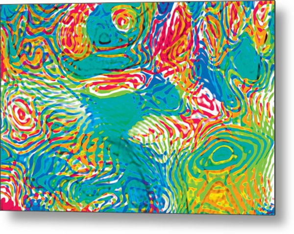 Primary Ripples Tropical Metal Print