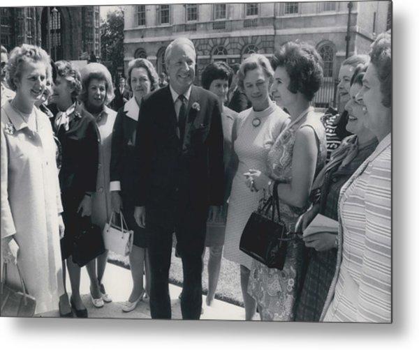 Prime Minister Meets Conservative Women M. P ��s Metal Print by Retro Images Archive