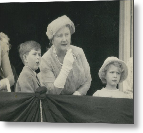 Prince Charles And Princess Anne Look For Their Lither To Metal Print by Retro Images Archive