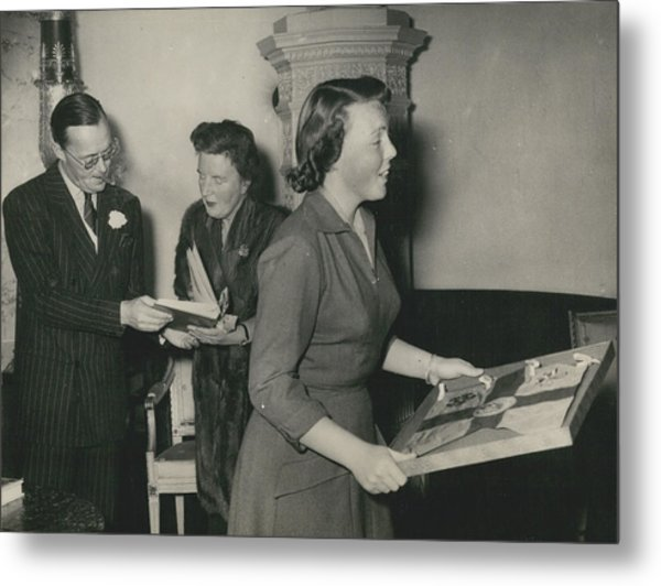 Princess Beatrix Of The Netherlands Receives Her Birthday Metal Print by Retro Images Archive