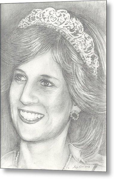 Princess Diana Metal Print