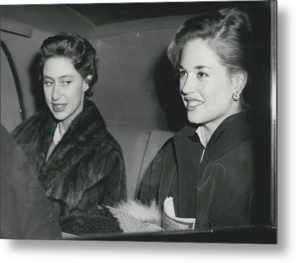 Princess Margaret At The Theatre Metal Print by Retro Images Archive