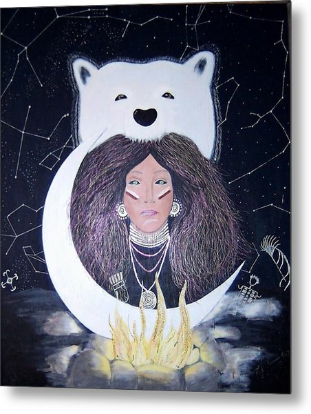 Princess Moon Metal Print