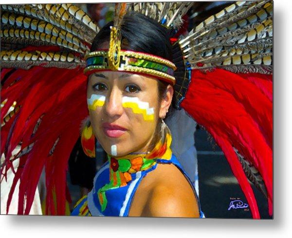 Princess Red Feather Close Up Metal Print