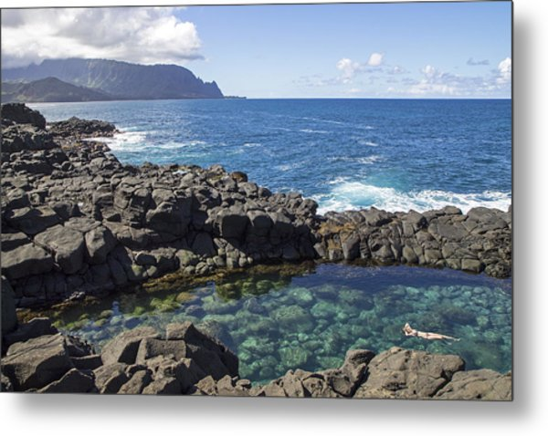 Princeville Queen's Bath Metal Print