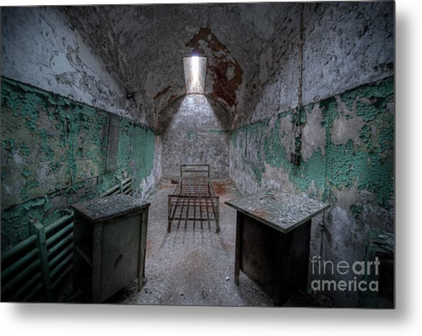 Prison Cell At Eastern State Penitentiary Metal Print