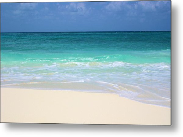 Pristine Beach Cancun Metal Print