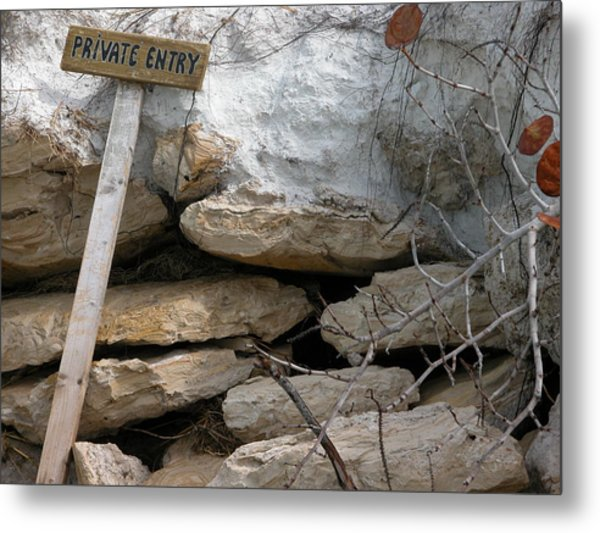 Private Entry Metal Print by Valerie Paterson