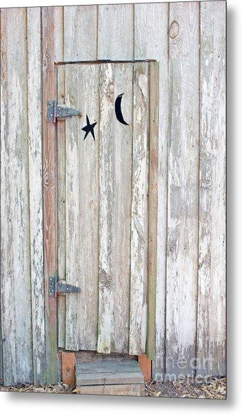Privy Door Metal Print