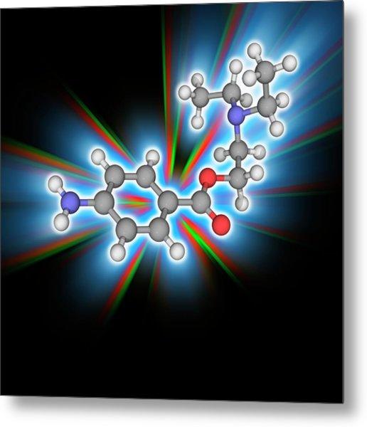 Procaine (novocaine) Drug Molecule Metal Print by Laguna Design/science Photo Library