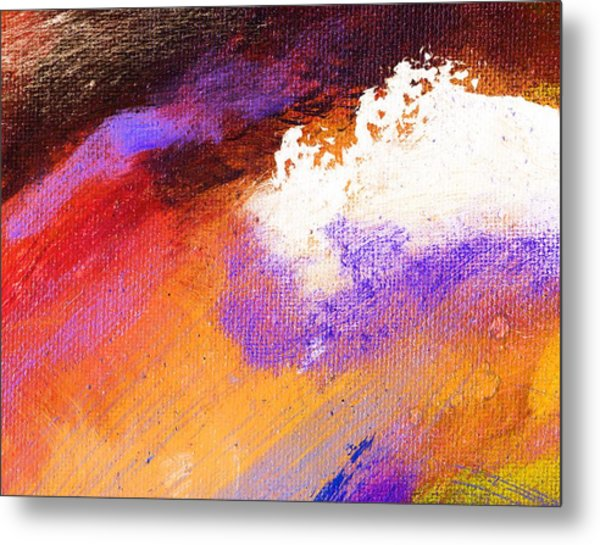 Propel Ember Red Metal Print by L J Smith