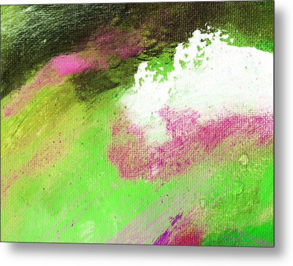 Propel Emerald Green Metal Print by L J Smith