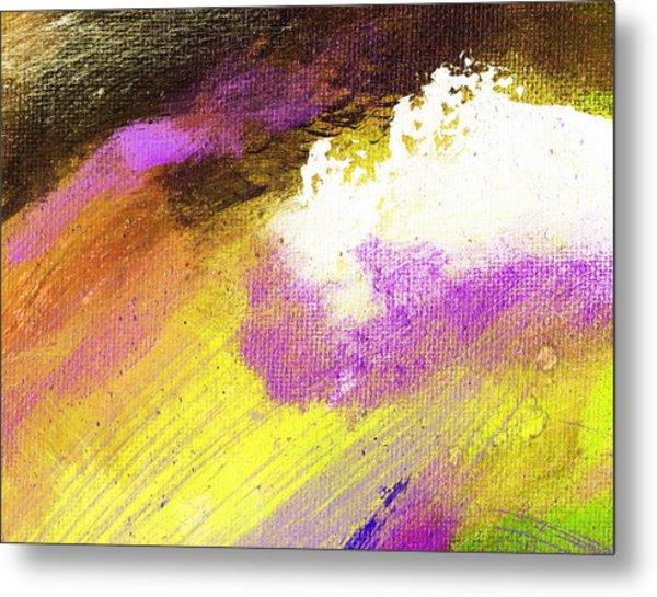 Propel Yellow Purple Metal Print by L J Smith