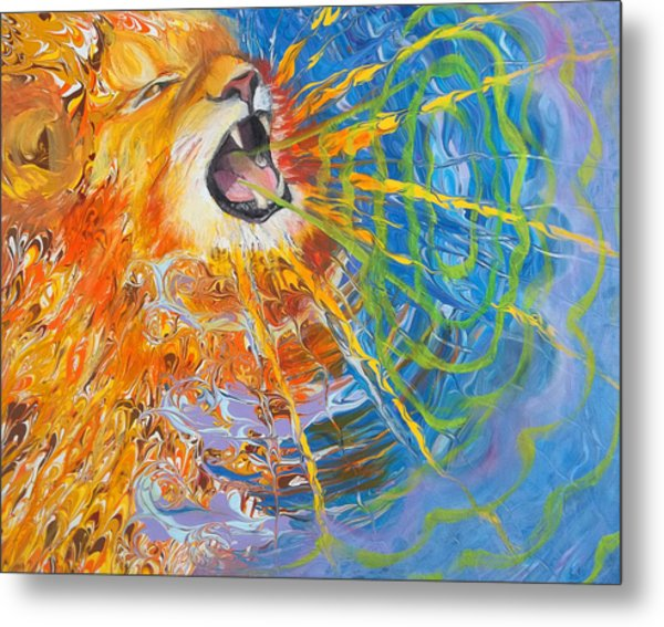 Prophetic Sketch Painting 25 Lion Of Judah Awakens With A Roar Metal Print
