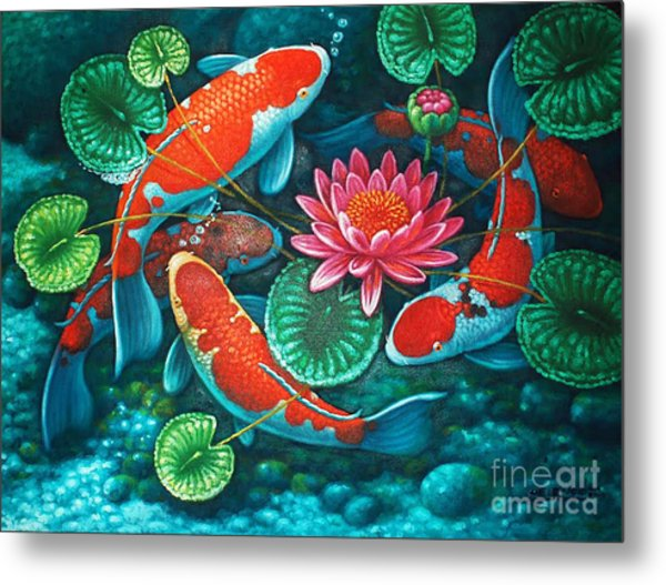 Prosperity Pond Metal Print