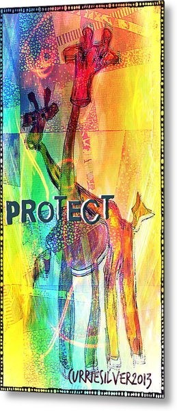 Protect Metal Print by Currie Silver