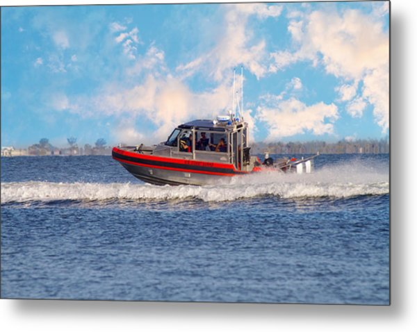 Protecting Our Waters - Coast Guard Metal Print