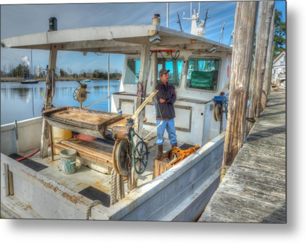 Metal Print featuring the photograph Proud Fisherman by Francis Trudeau